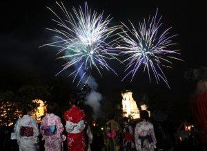 宵の明治村「花火競演」 @ 博物館明治村 帝国ホテル中央玄関前芝生広場一帯 | 犬山市 | 愛知県 | 日本