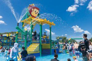 【モンキーパーク】水の楽園「モンプル」今年の夏も営業開始! @ 日本モンキーパーク